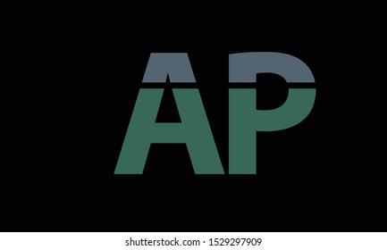 AP abstract vector logo monogram template