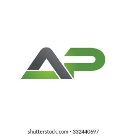 AP company linked letter logo green