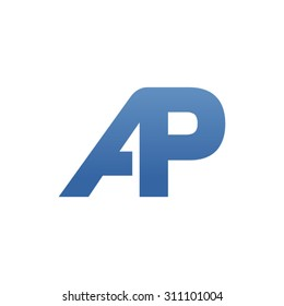 AP letter logo connected
