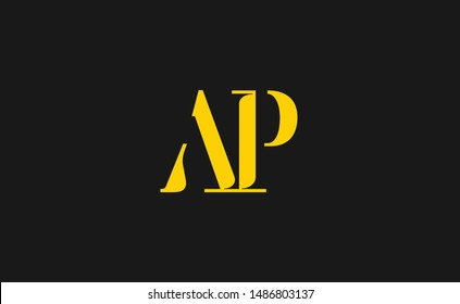 AP Letter Logo Design with Creative Modern Trendy Typography