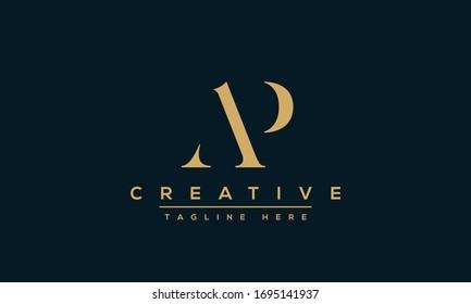 AP Letter Logo Design. Creative Modern Alphabet letters monogram icon A P, A and P.