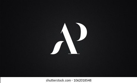 AP Letter Logo Design Template Vector