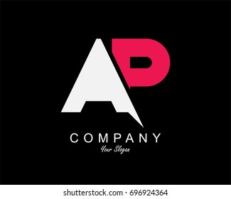 AP Letter Logo Design Template Element