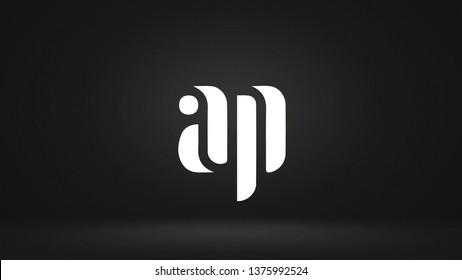 AP logo design template vector illustration icon
