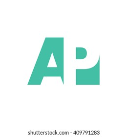 AP Logo | Vector Graphic Branding Letter Element | jpg, eps, path, web, app, art, ai | White Background