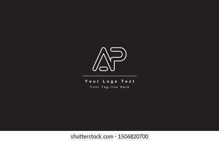 AP or PA letter logo. Unique attractive creative modern initial AP PA A P initial based letter icon logo