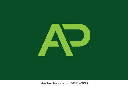 AP or PA and A or P Uppercase Letter Initial Logo Design Template Vector Illustration
