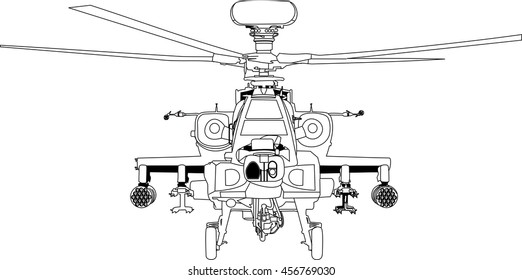 apache war machine vector