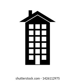 Apartment Icon. Urban Residential or Architecture Illustration As A Simple Vector Sign & Trendy Symbol for Design and Websites, Presentation or Mobile Application.