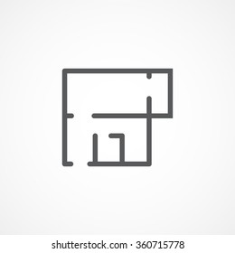 Apartment plan icon