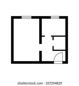 apartment plan vector icon