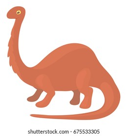 Apatosaurus dinosaur icon. Cartoon illustration of apatosaurus dinosaur vector icon for web isolated on white background