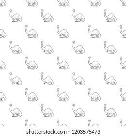 Apatosaurus dinosaur pattern vector seamless repeating for any web design