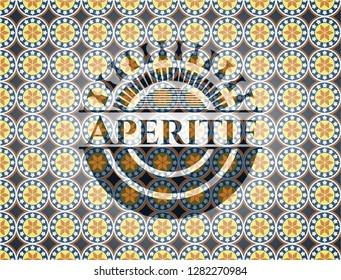 Aperitif arabesque emblem background. arabic decoration.