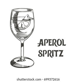 Aperol spritz. Vector illustration