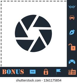 Aperture Diaphragm. Perfect icon with bonus simple icons