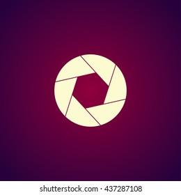 aperture icon. Flat design style eps 10