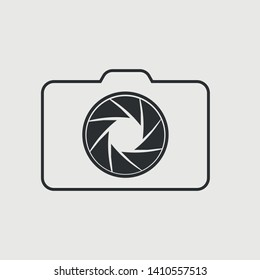 Aperture vector icon illustration sign