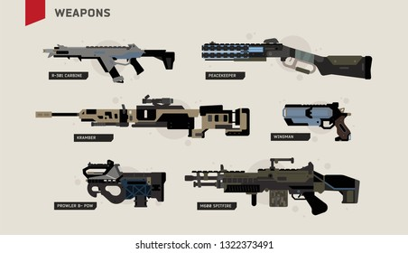 Apex Legends Weapons Vector Pack