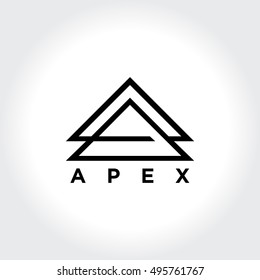 Apex Symbol. Abstract letter A symbol