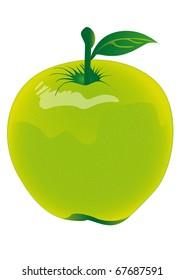 Gr�¼ner Apfel, Apfel