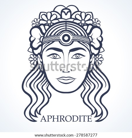 aphrodite greek goddess beauty stock vector royalty free