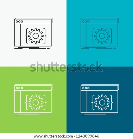 Api App Coding Developer Software Icon Stock Vector (Royalty Free