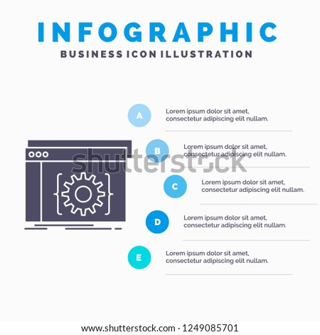 Api App Coding Developer Software Infographics Stock Vector (Royalty