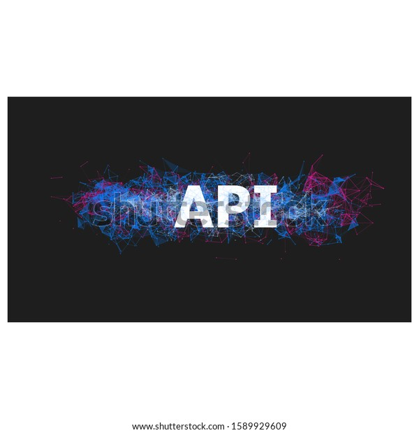 Api Application Programming Interface Banner Colorful Stock Vector Royalty Free 1589929609