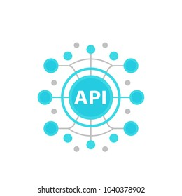 API, application programming interface vector illustration