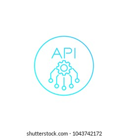 API, application programming interface vector linear icon