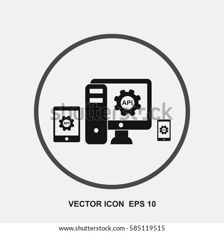 API Application Programming Interface Vector Icon Stock