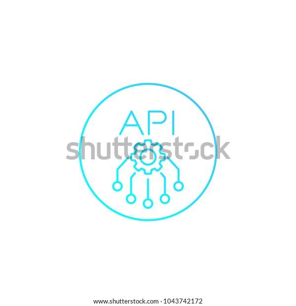 Api Application Programming Interface Vector Linear Stock