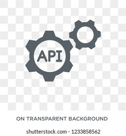 Api icon. Trendy flat vector Api icon on transparent background from Programming collection.