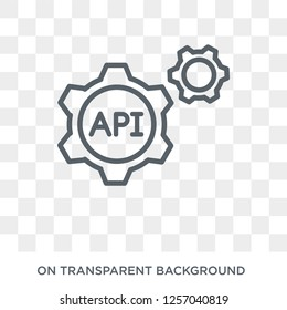 Api icon. Trendy flat vector Api icon on transparent background from Programming collection. High quality filled Api symbol use for web and mobile