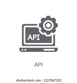 API icon. Trendy API logo concept on white background from Technology collection. Suitable for use on web apps, mobile apps and print media.