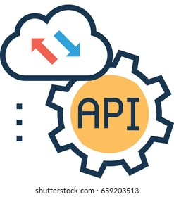 Api Interface Vector Icon