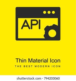 API Page bright yellow material minimal icon or logo design