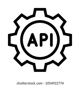api setting vector icon