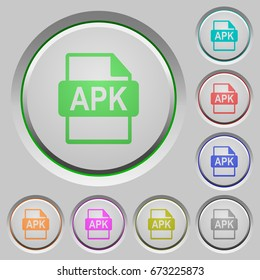 apk file format color icons on sunk push buttons