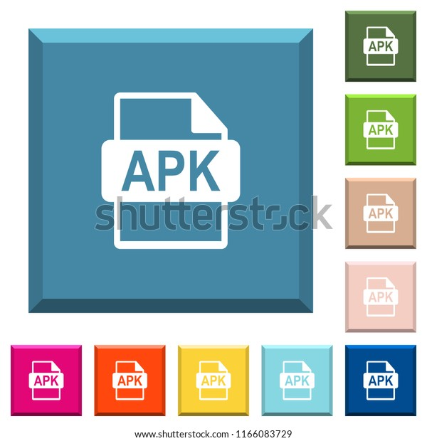 Apk File Format White Icons On Stock Vector (Royalty Free