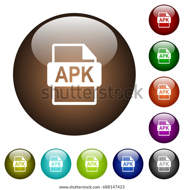 Apk File Format White Icons On Stock Vector (Royalty Free) 688147423