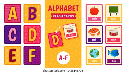80 Pieces Animal Alphabet Activity Playing Flash Cards Learning Pocket Card