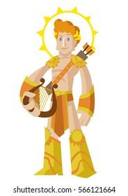 apollo phoebus greek roman god of the sun and the music