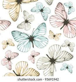 Aporia butterflies (tile-able background)