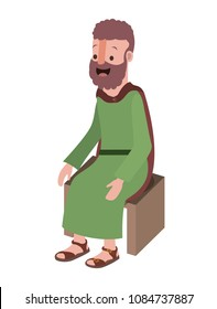 apostle of Jesus sitting on wooden chair