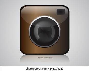 app camera vector icons design.