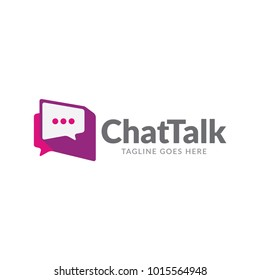 app chat talk bubble logo icon vector template