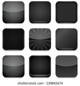 App Icons (Black) - Vector app icons, different styles in black.  Eps10 file with transparency.