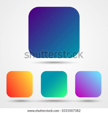 app icons gradient backgrounds vector stock vector royalty free